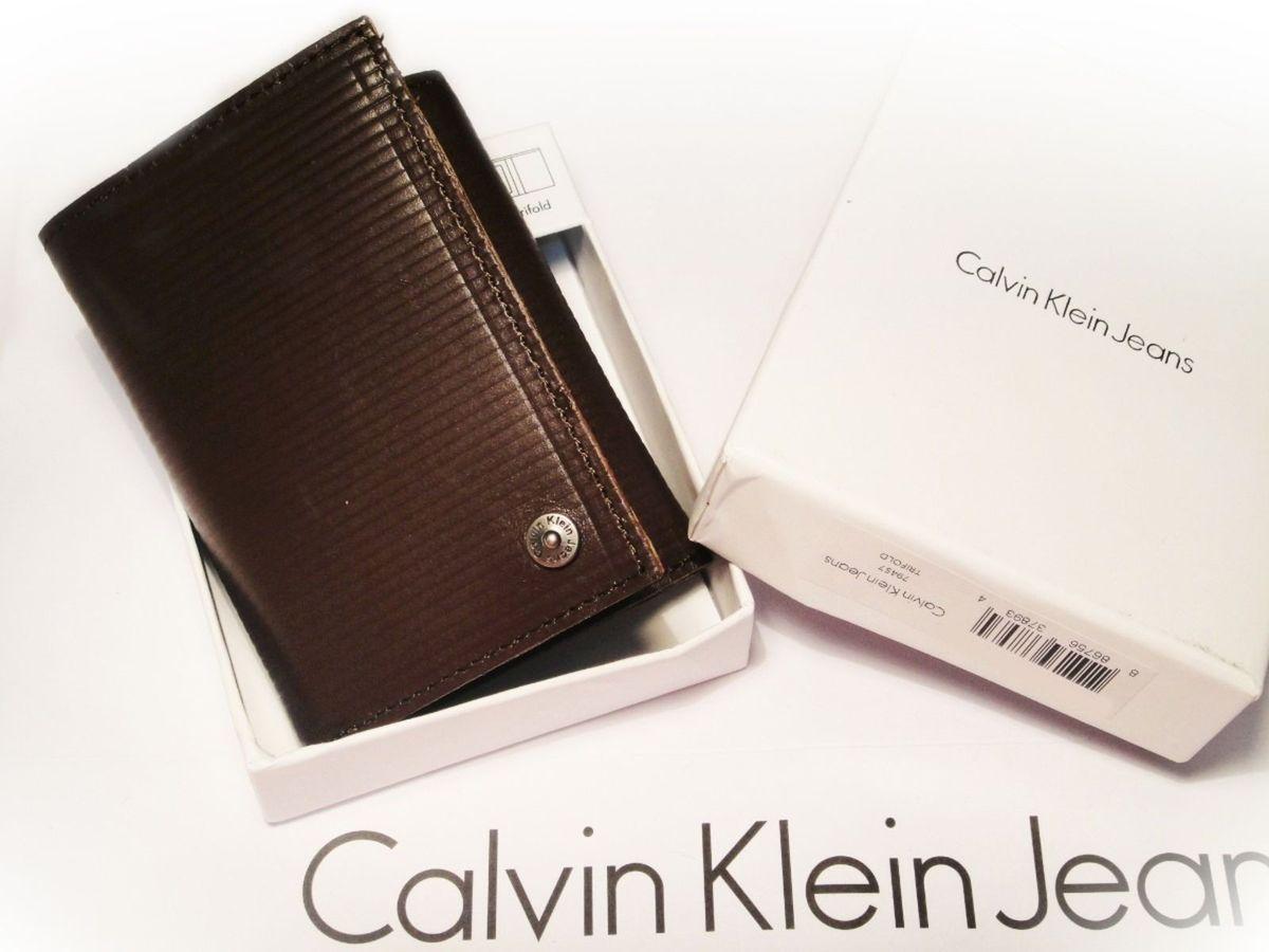 Calvin Klein Carteira Masculina Trifold   Carteira Masculina Calvin ... e4de9621b2