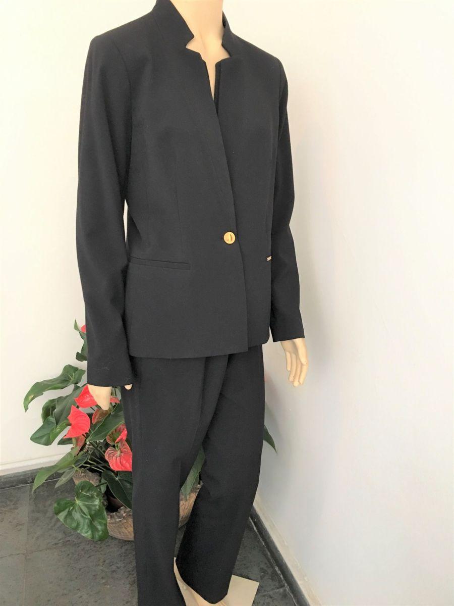 calvin klein terno feminino original blazer e calça preto - ternos calvin  klein 32600dfda6