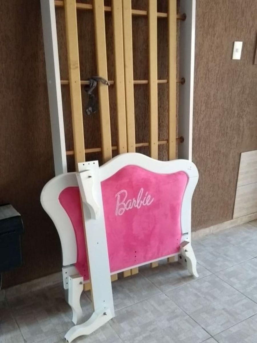 304ae4cf63 Cama Barbie Pura Magia Cabeceira Veludo Rosa Item Infantil Barbie ~ Cama Da Barbie  Pura Magia
