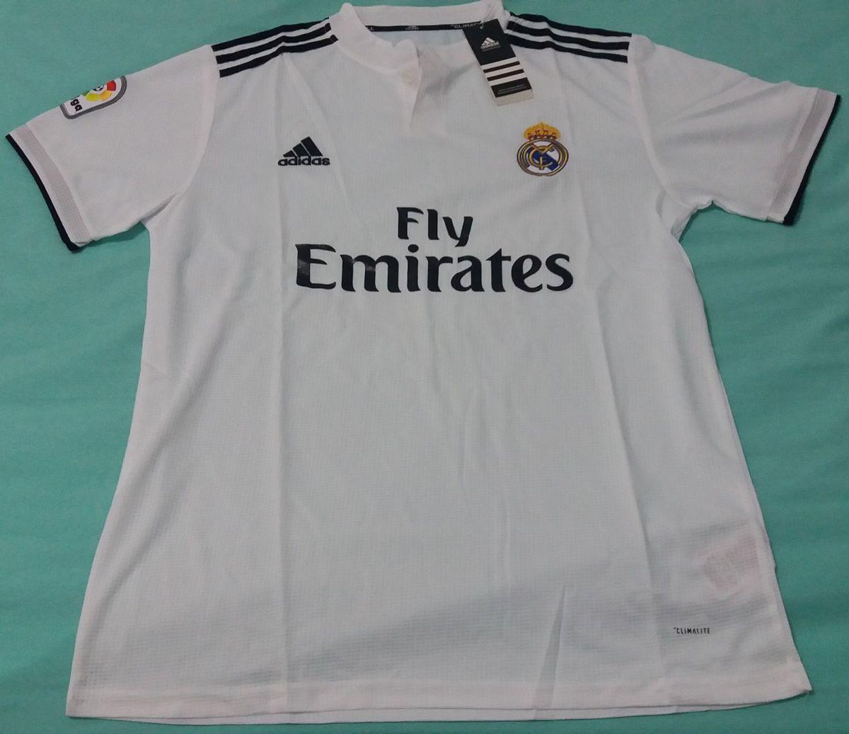 camisa adidas real madrid home 18 19 - lançamento - esportes adidas 1469419c22965