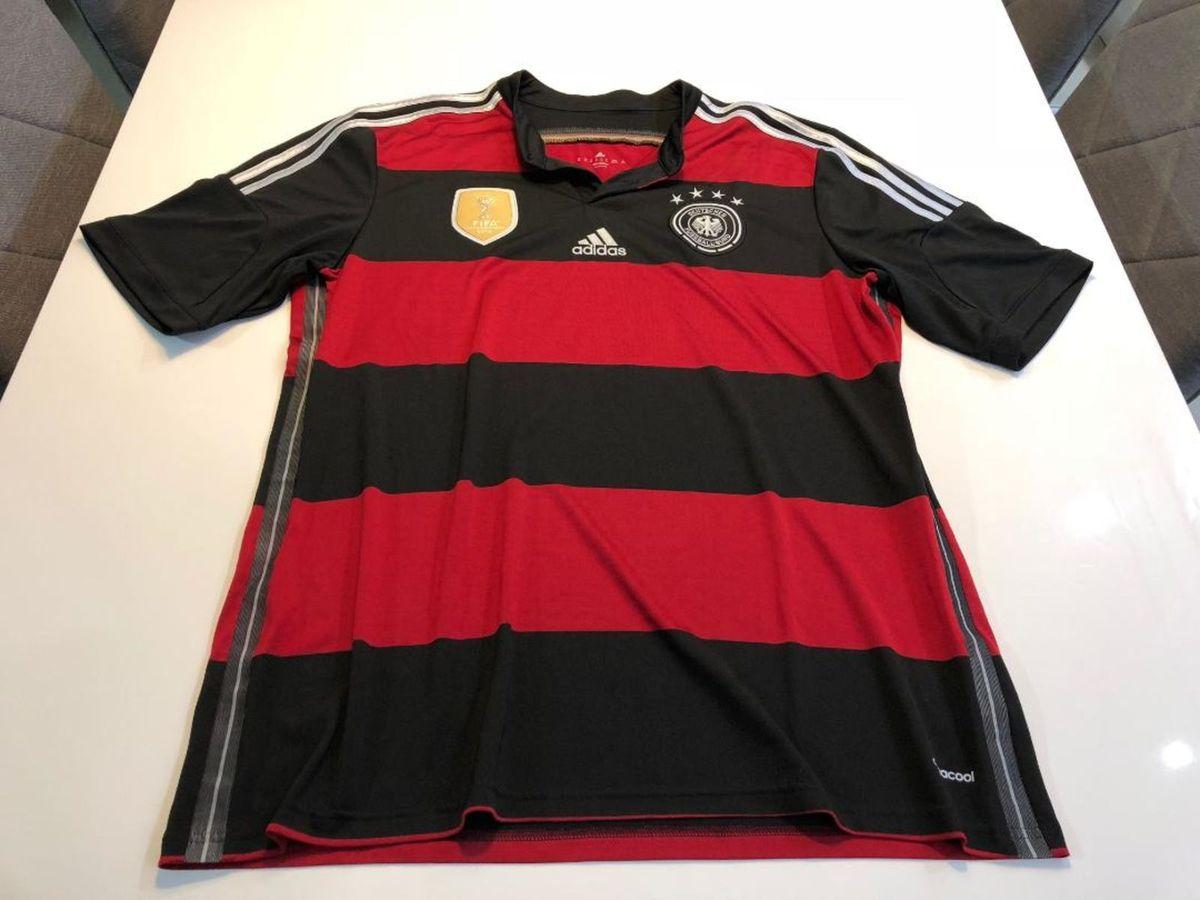 a66c712ed6 camisa adidas seleção alemanha tetracampeã mundial - preto e vermelho -  esportes adidas