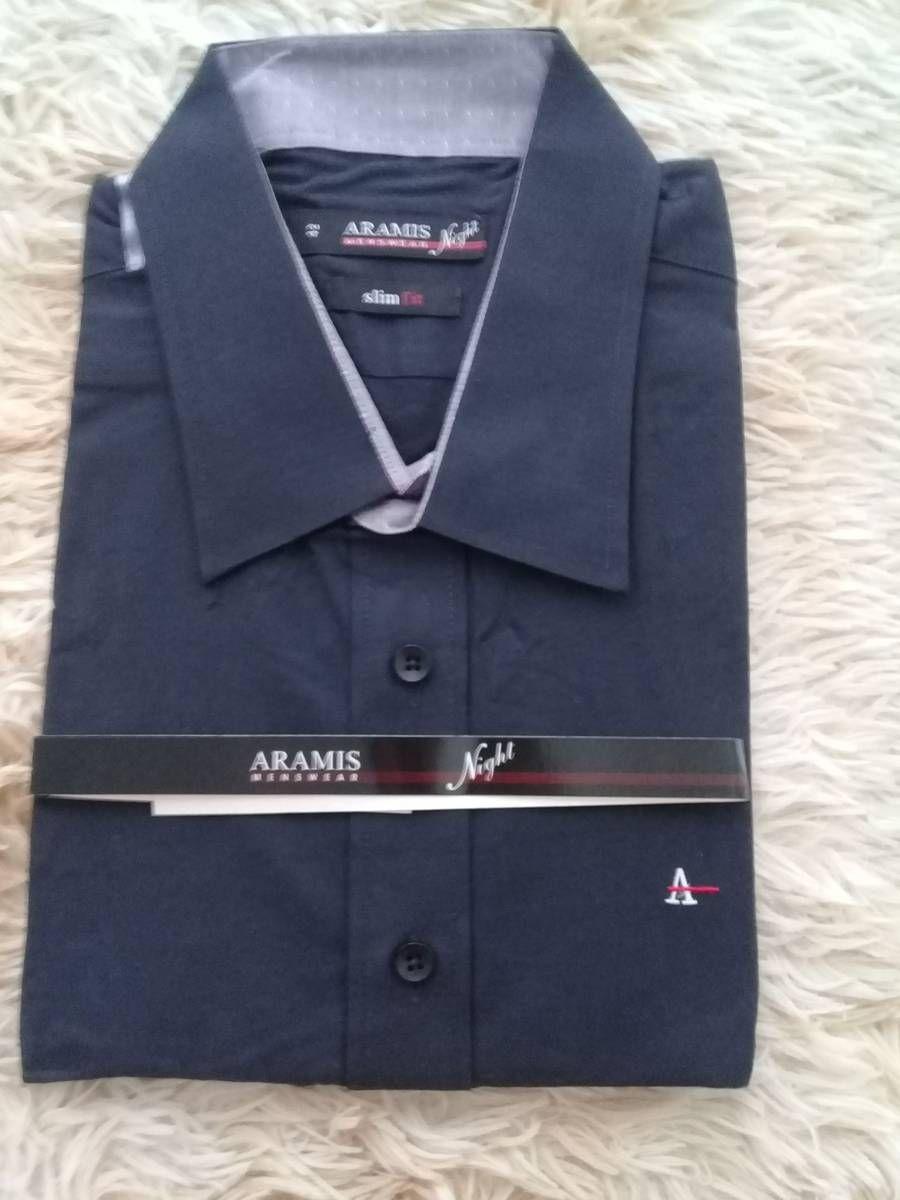 f3a4f27733 camisa aramis night slim fit preto social manga longa tamanho  g - camisas  aramis menswear