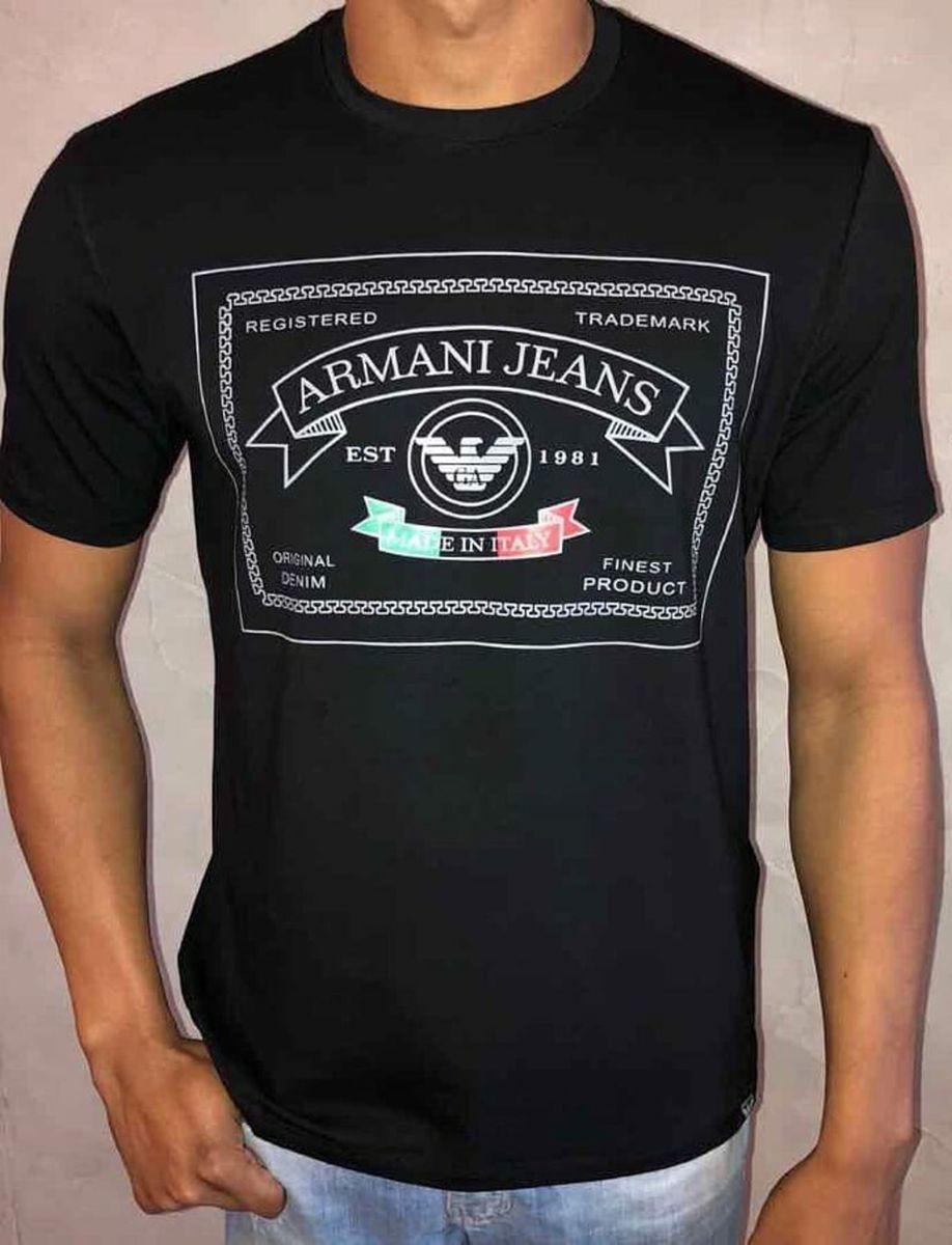 493918a069386 Camisa Armani Jeans Coleção Outono Inverno 2018 Original   Camisa ...