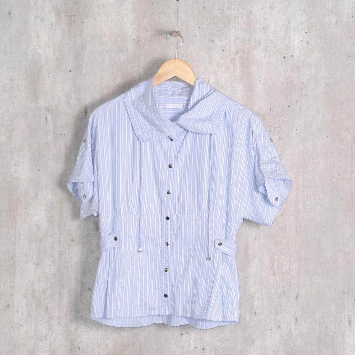 ecf02b804 Camisa Azul Listrada Le Lis Blanc