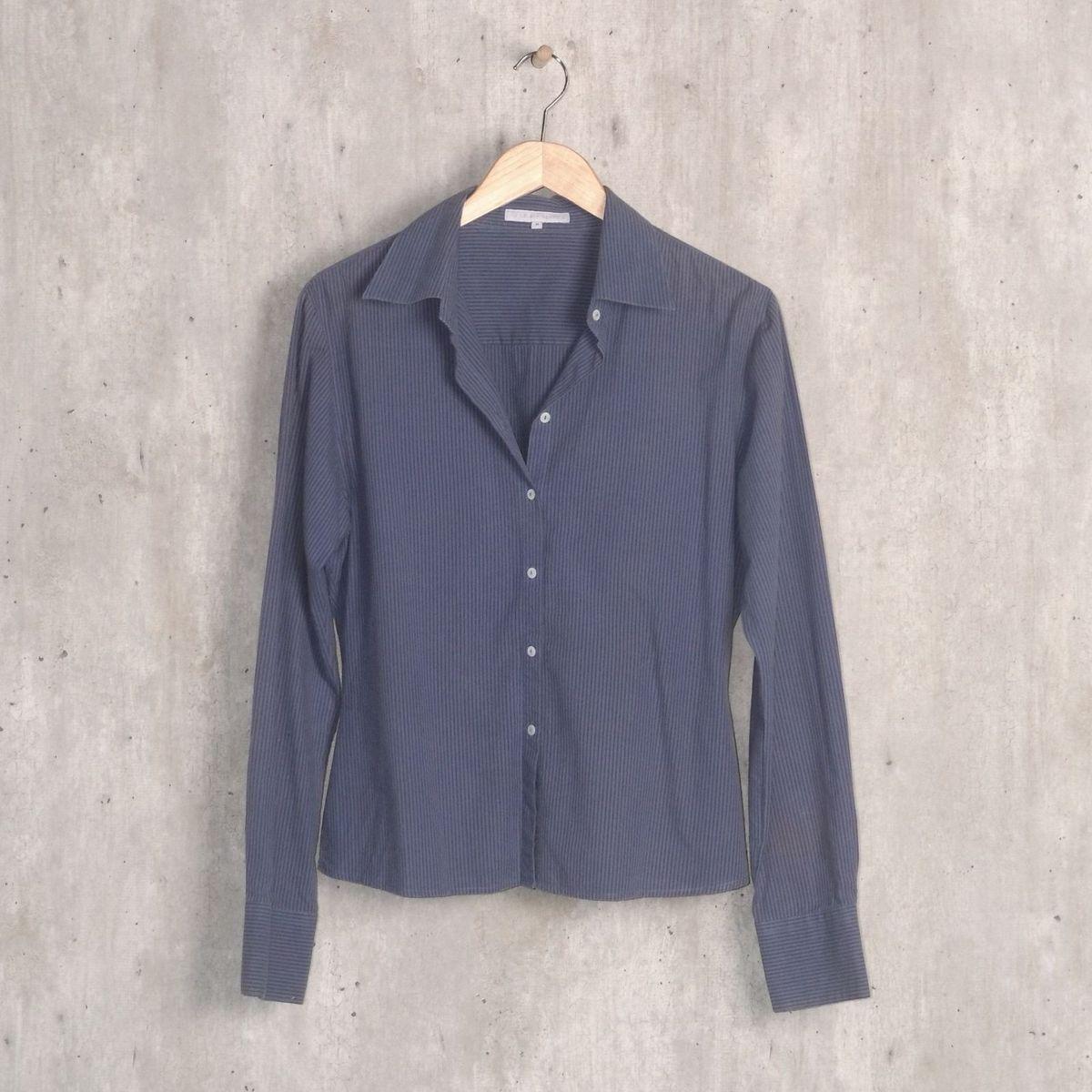 48e111b0a Camisa Azul Listrada