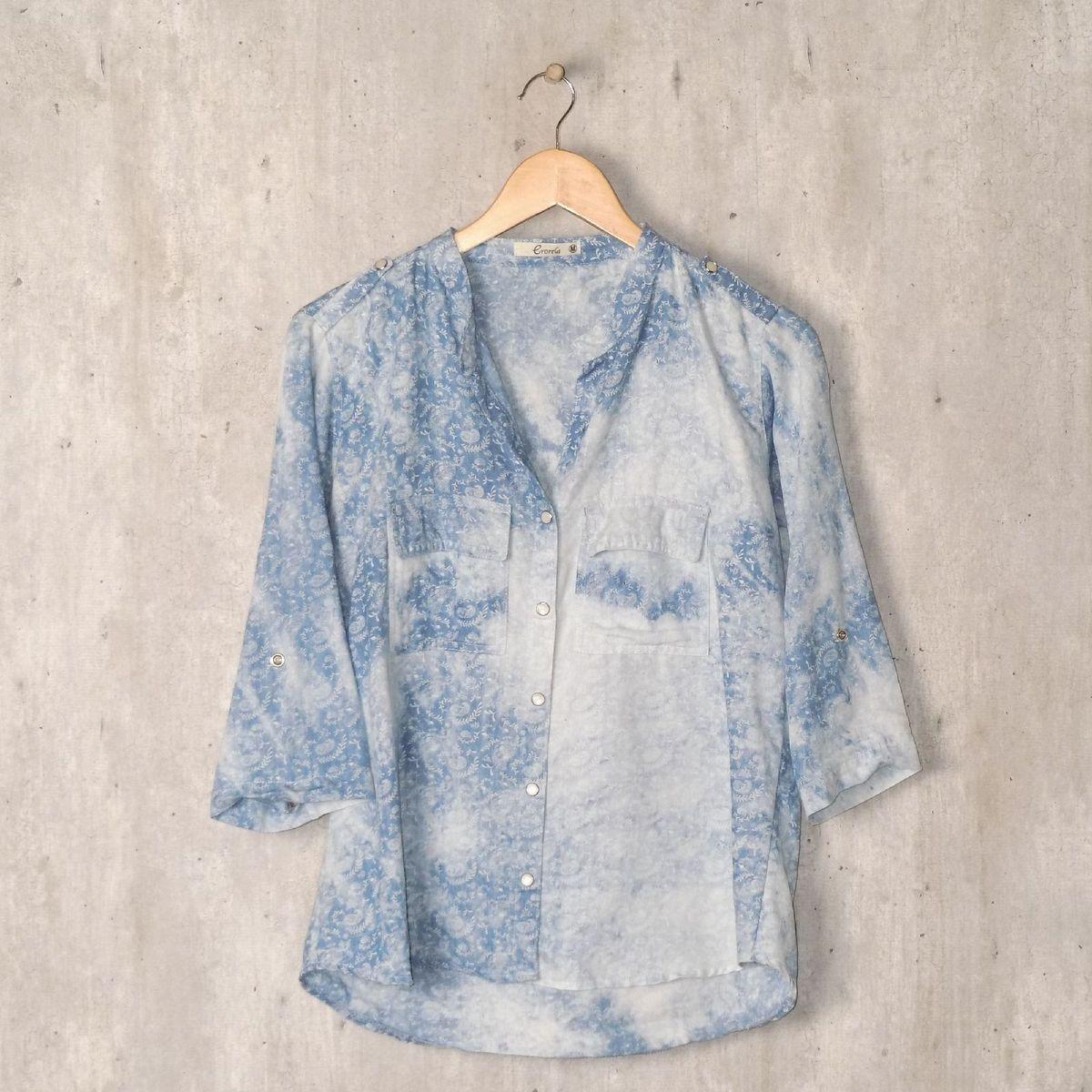 camisa azul paisely crorela - camisas crorela