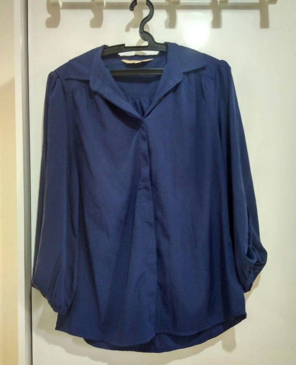 camisa azul - camisas c&a