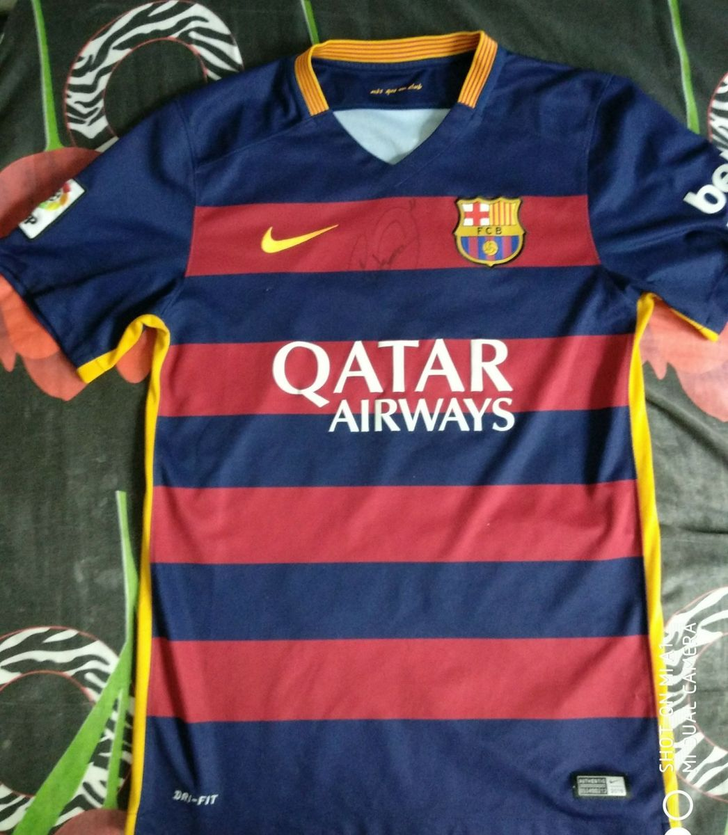 40e3060d2b Camisa Barcelona Autógrafo Neymar | Camiseta Masculina Nike Usado ...