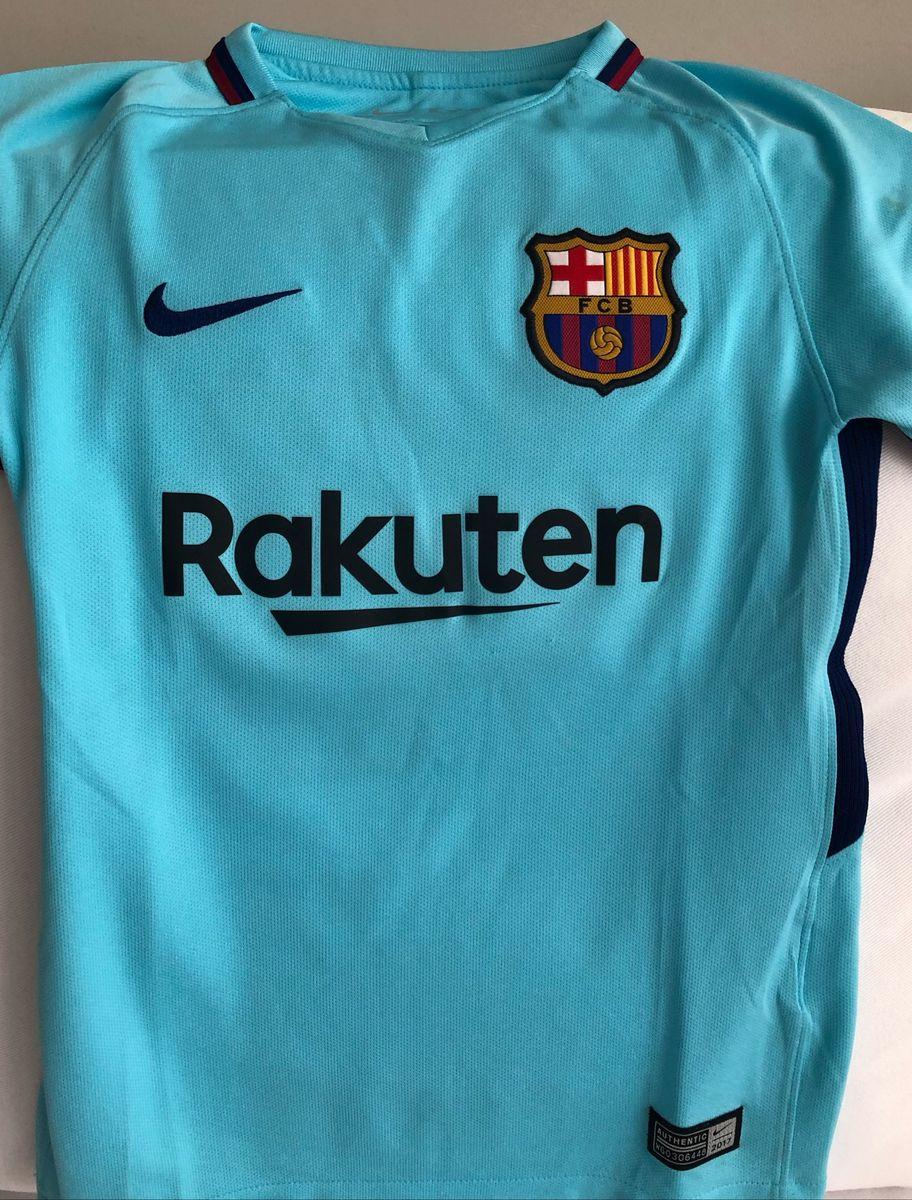 Camisa Barcelona Oficial Azul Clara Tam Xs 7 Anos Messi Numero 10 Roupa Infantil Para Menino Nike Usado 38490778 Enjoei