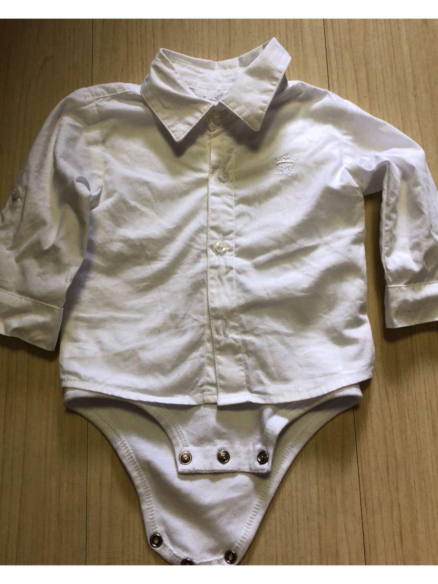 783c482b259c9 camisa branca com body embutido rn - bebê bárbara kids