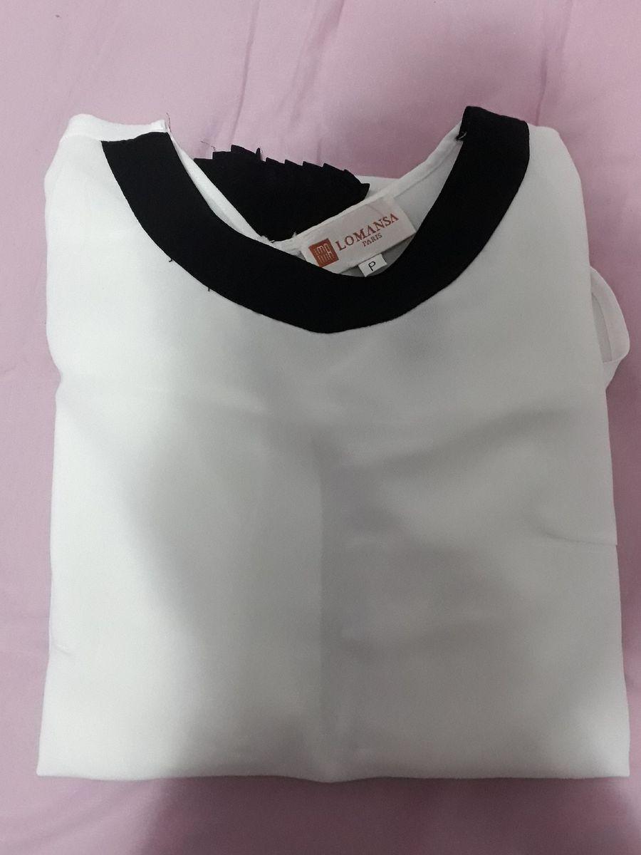camisa branca lomanza - camisas lomanza