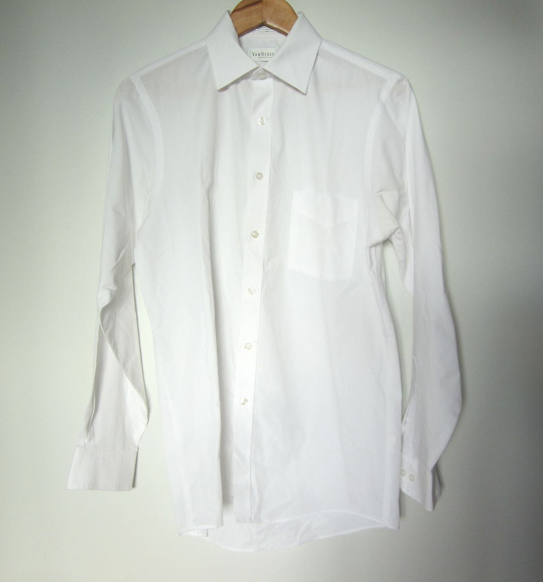 c09e9eab2 camisa branca manga comprida social - camisas van heusen
