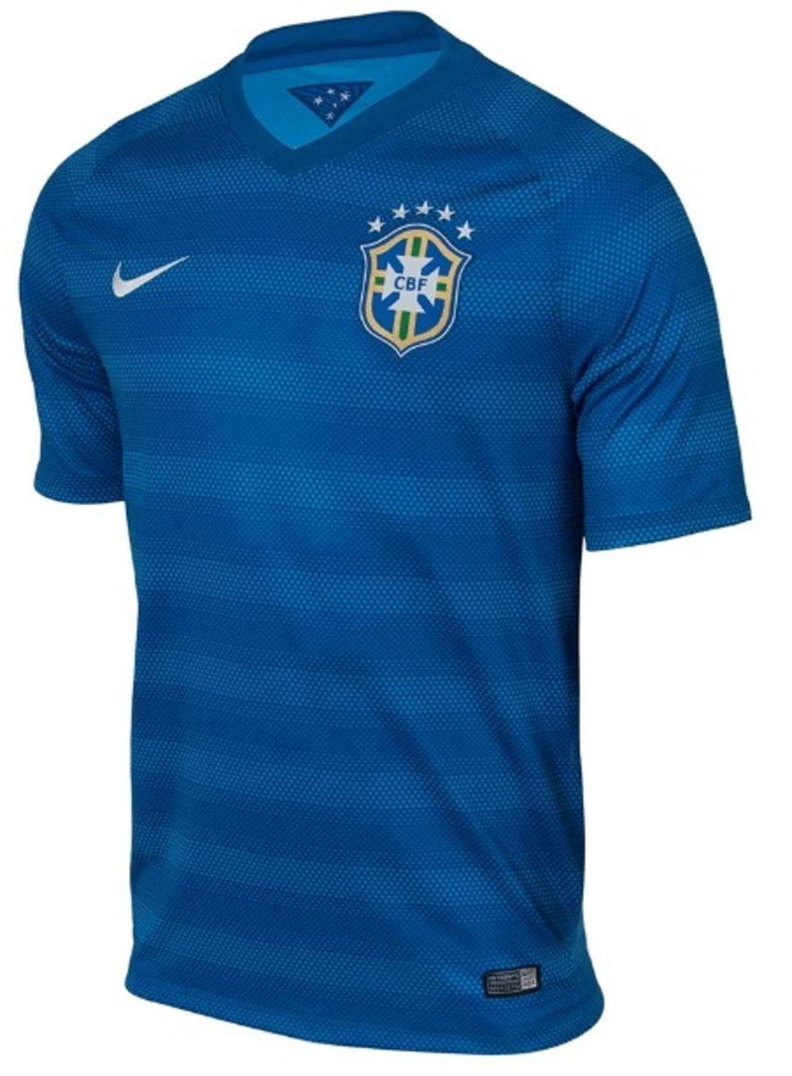camisa brasil 2014 azul nike - original - nova com etiqueta - esportes nike f9752725c1799