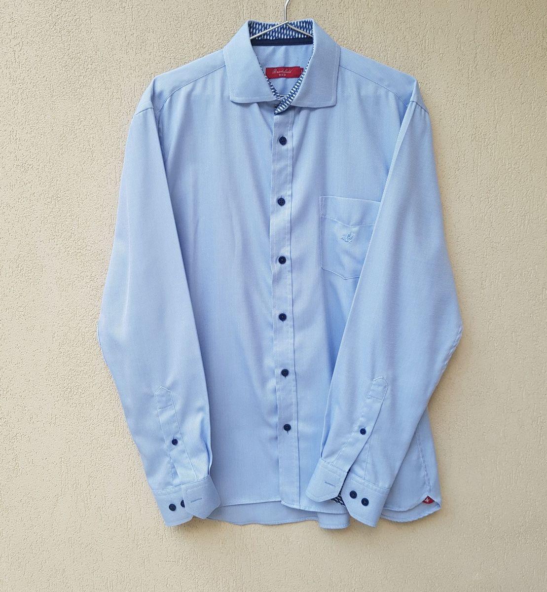 camisa brooksfield azul - camisas brooksfield