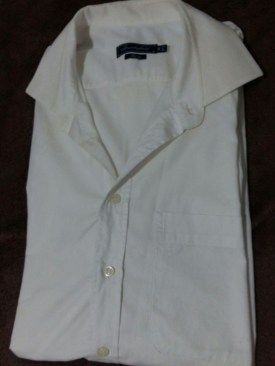 330a8a45aa8 Camisa Brooksfield Branca Tam G