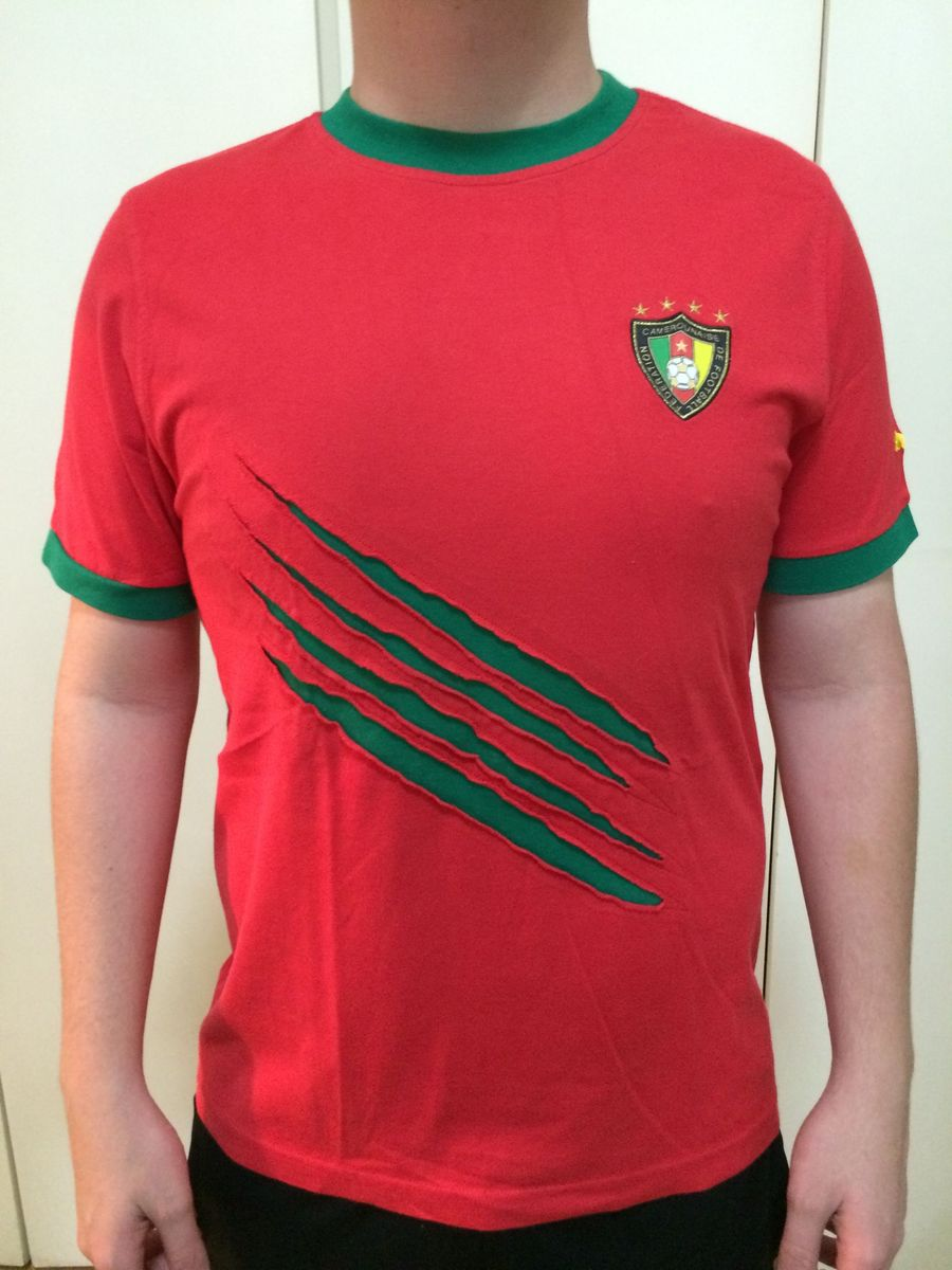 No puedo hardware beneficioso  Camisa Casual Seleção Camarões Puma   Camiseta Masculina Puma Usado 1872821    enjoei
