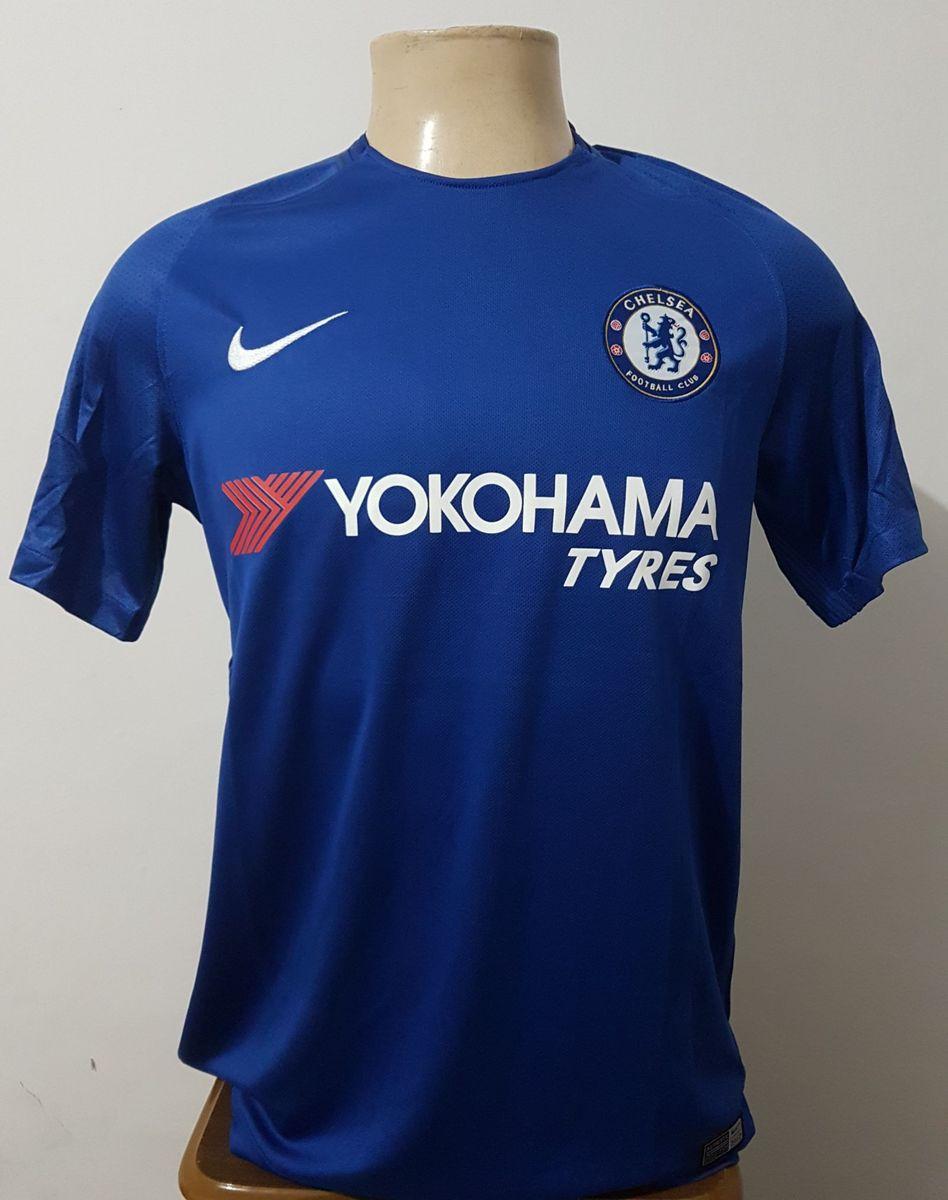 camisa chelsea home 17 18 s n° torcedor - camisetas nike 7b55f65a0876d
