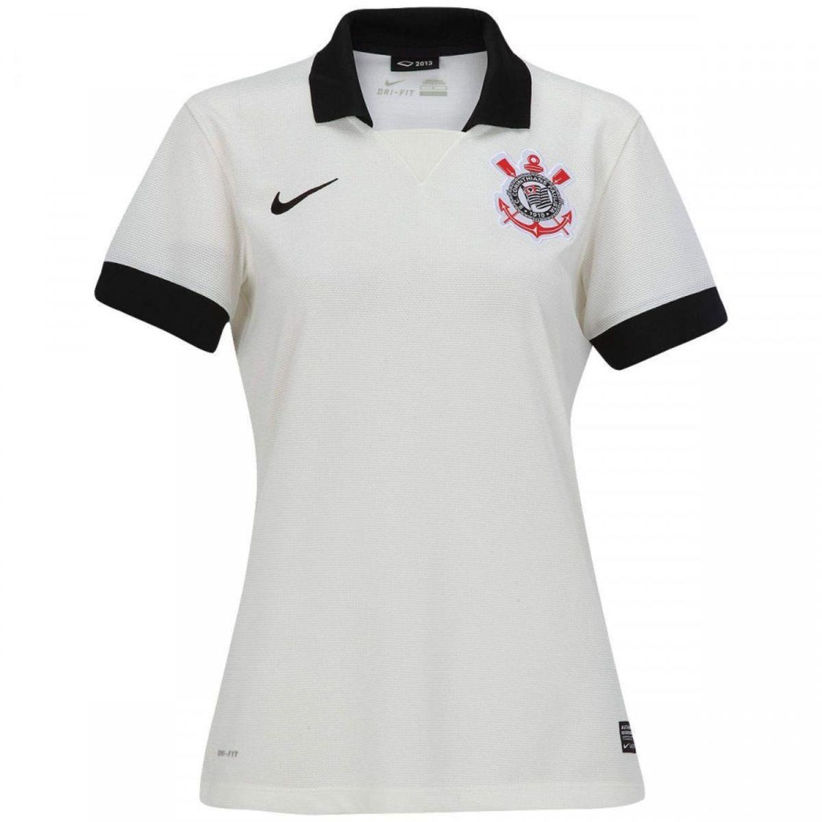 a58e34ff4047c Camisa Corinthians Feminina Branca - Nike