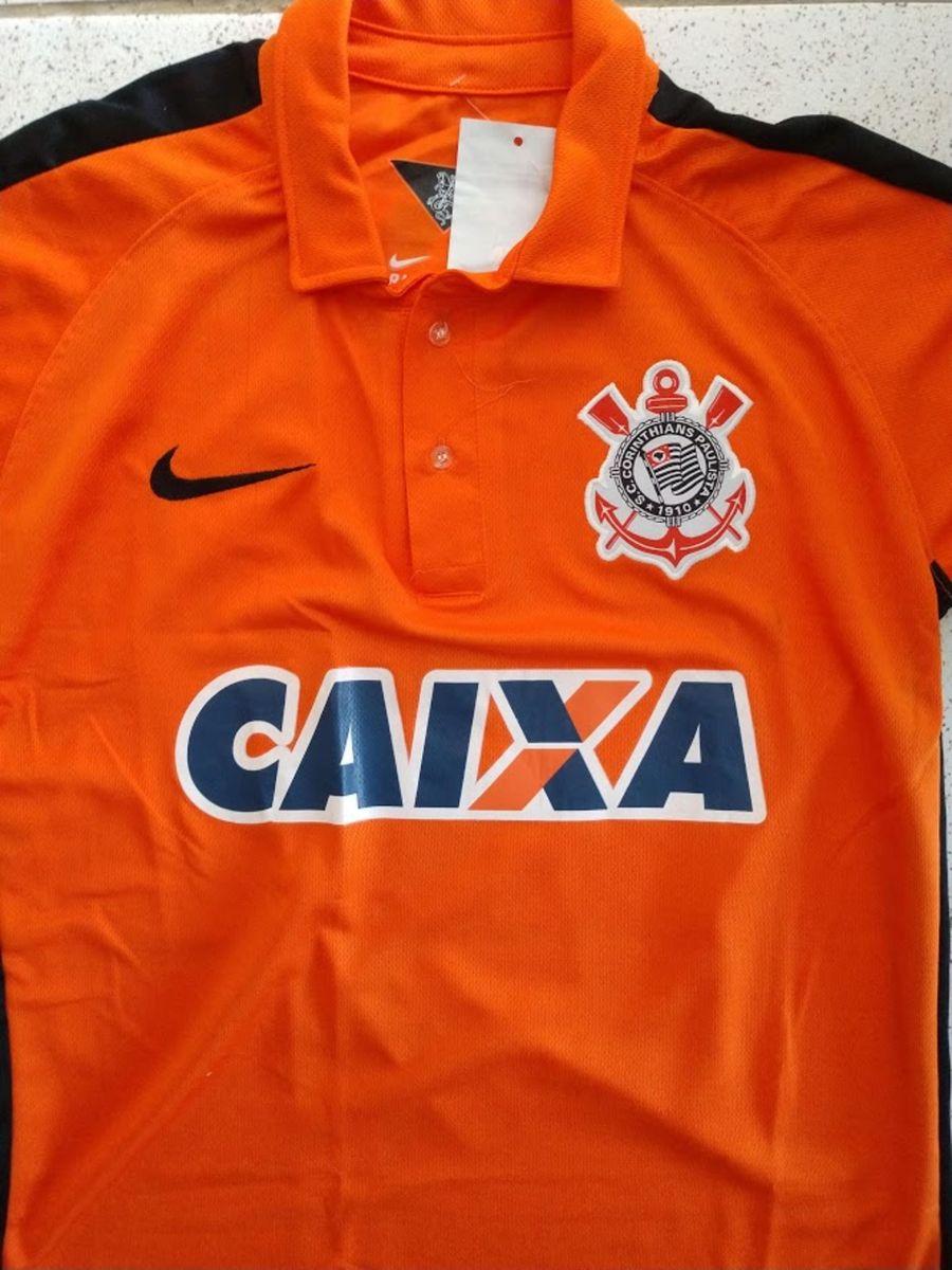 camisa corinthians laranja tamanho p - camisas nike 2f6119ec7d526