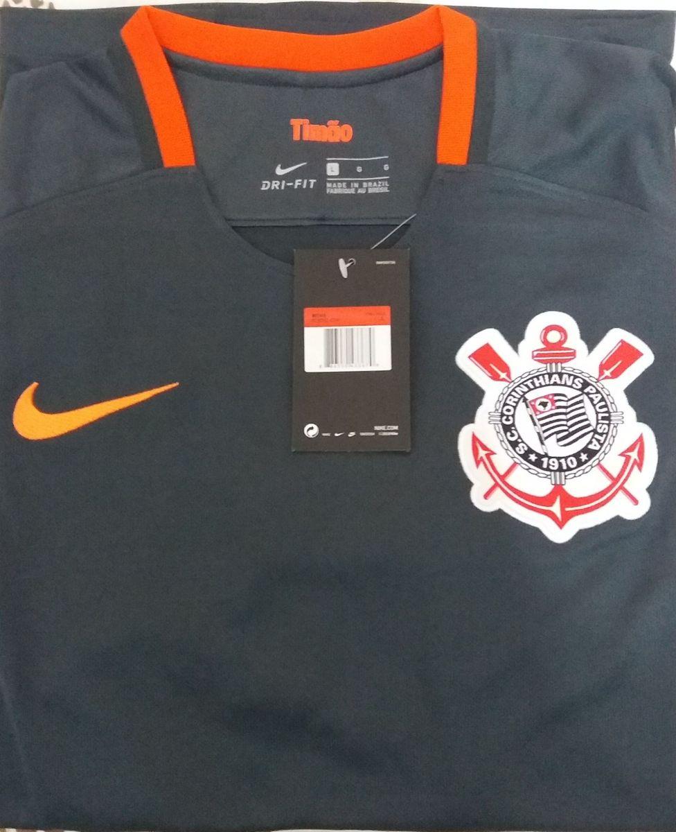 camisa corinthians nike - grafite e laranja - g - esportes nike 04a7d5d62c109
