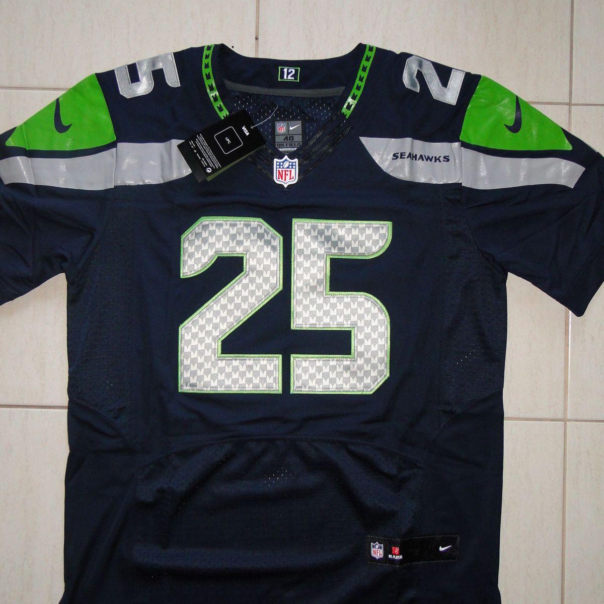 Camisa de Futebol Americano Nfl Richard Sherman Seattle Seahawks ... a5b904a38b4
