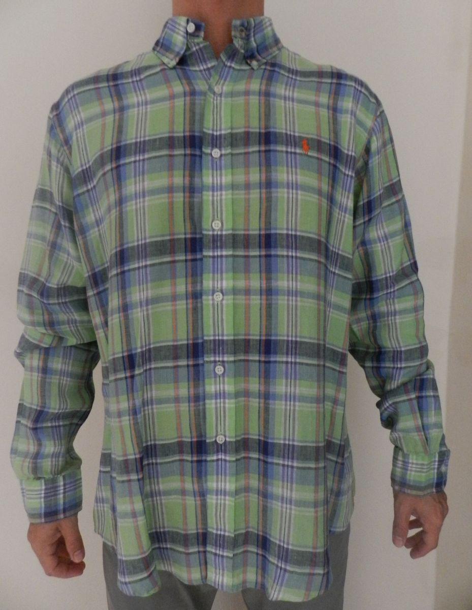 camisa de linho ralph lauren - camisas ralph lauren f6a215c93b8