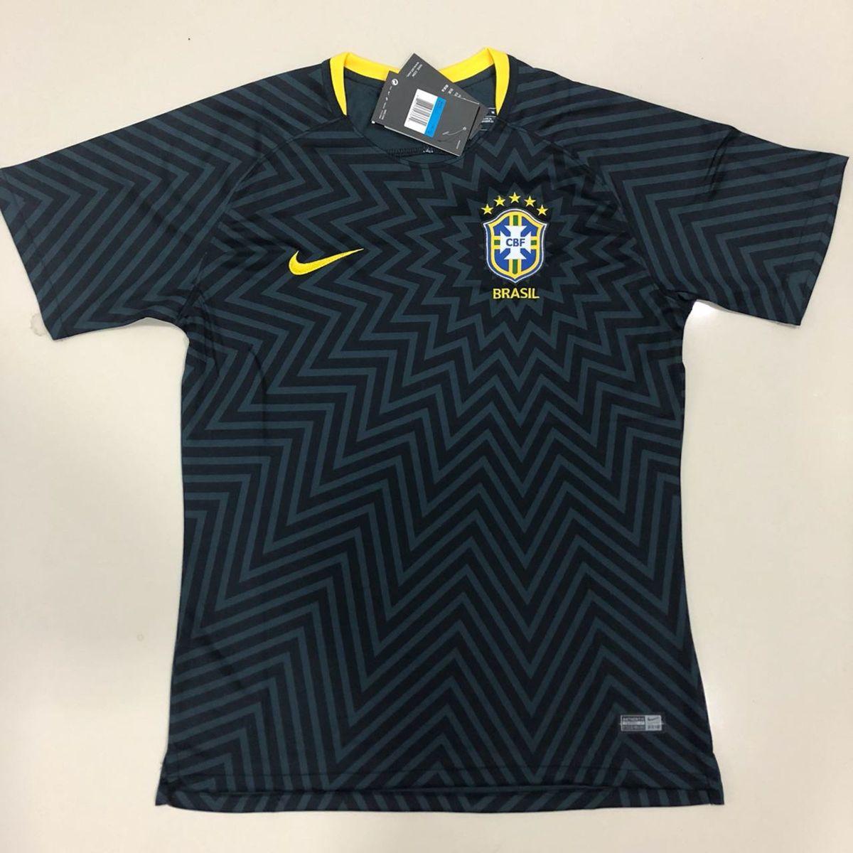 camisa do brasil treino preta importada pronta entrega - esportes nike 19bd73db9a4e7