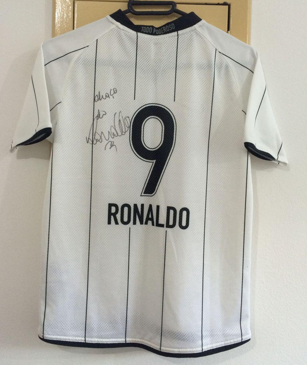 camisa do corinthians autografada pelo ronaldo r9 - camisetas nike 5871d8c883d81