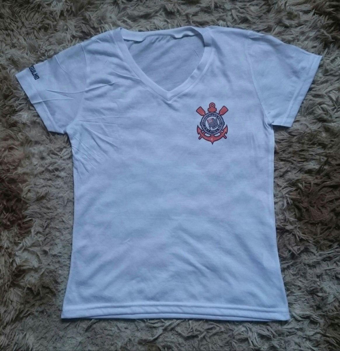 camisa do corinthians feminina personalizada - camisetas sem-marca d0559eb3efa21