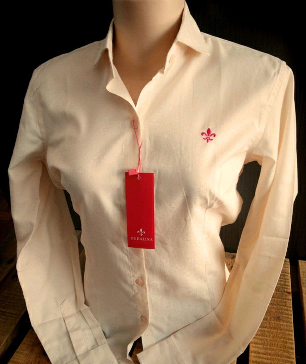 6afc14949aa camisa dudalina feminina g 42 creme - camisas dudalina