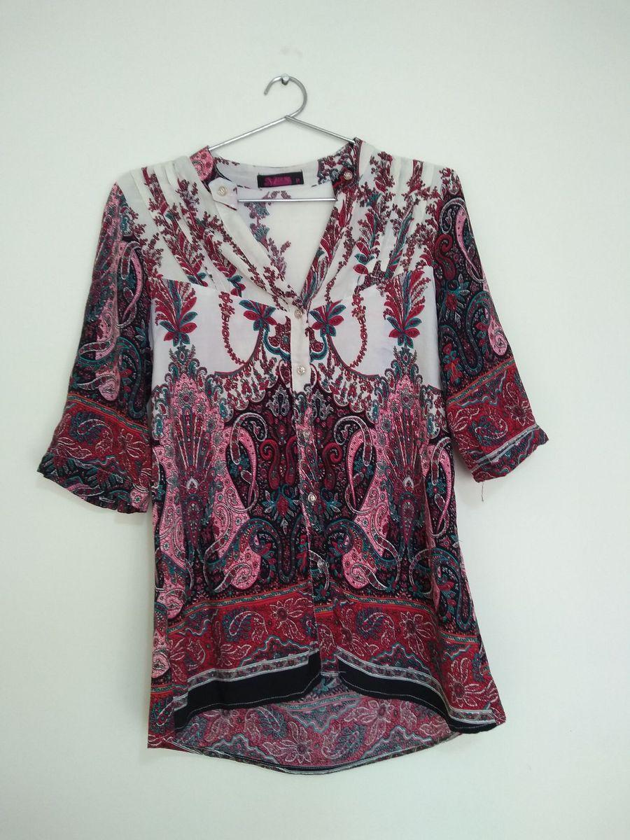 camisa estampada - camisas meiling