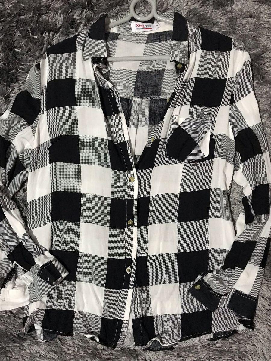 camisa estilosa xadrez - camisas sem marca