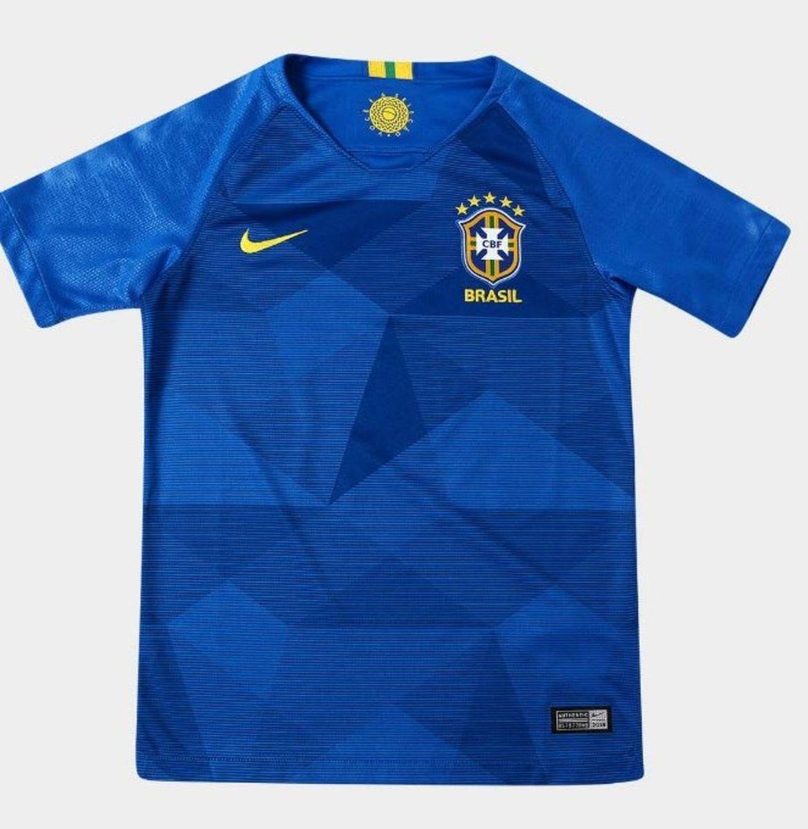 camisa feminina azul seleção brasileira - camisas nike e18ea6d343582