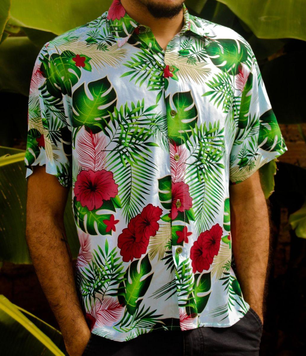 camisa floral - p - camisas sem marca