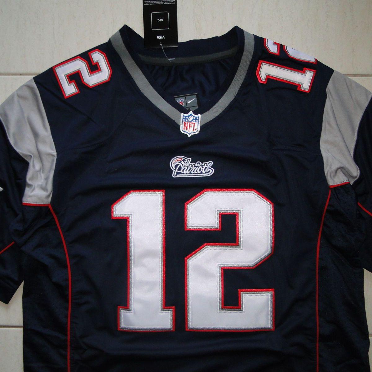 f9a64667c Camisa Futebol Americano Nfl Tom Brady New England Patriots
