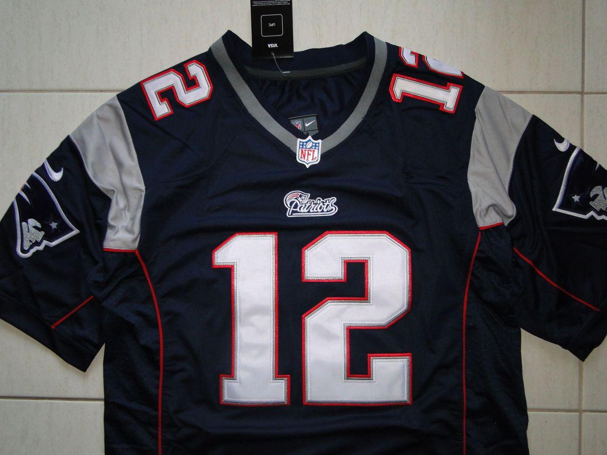 camisa futebol americano nfl tom brady new england patriots - esportes nike 635e97c1d65d4