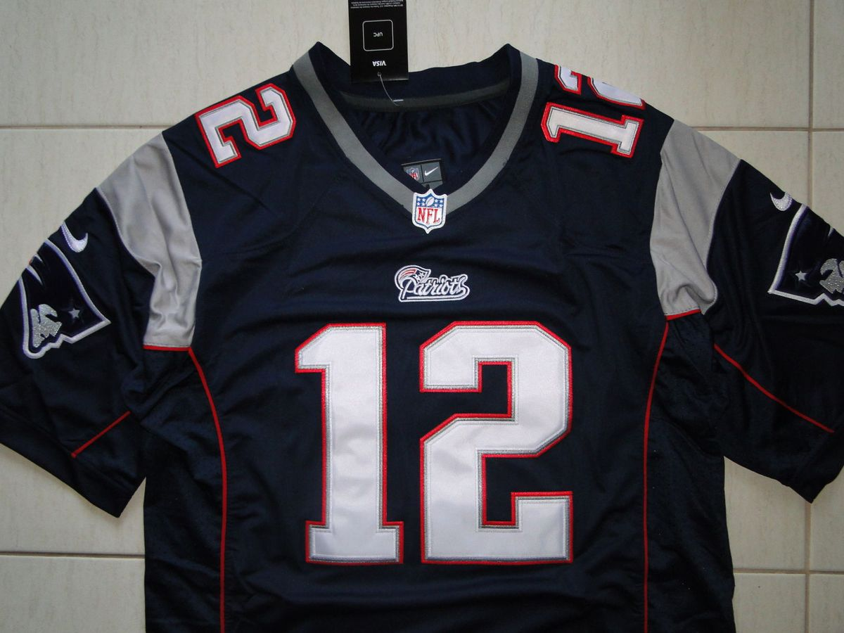 fe8ee52ef4a44 camisa futebol americano nfl tom brady new england patriots - esportes nike