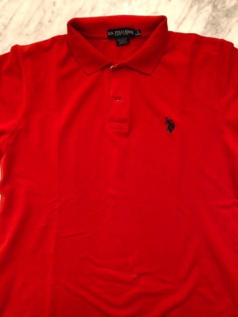 Camisa Gola Polo Básica Vermelha   Roupa Infantil para Menino Us ... 3b3af7d272