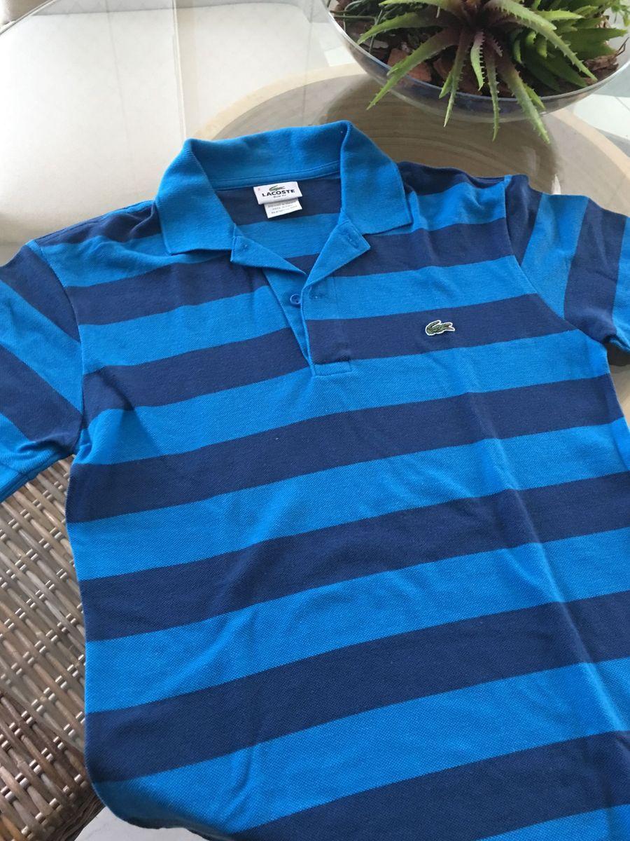 Camisa Gola Polo Tam 02 Lacoste   Camisa Masculina Lacoste Usado ... 98e8827f43