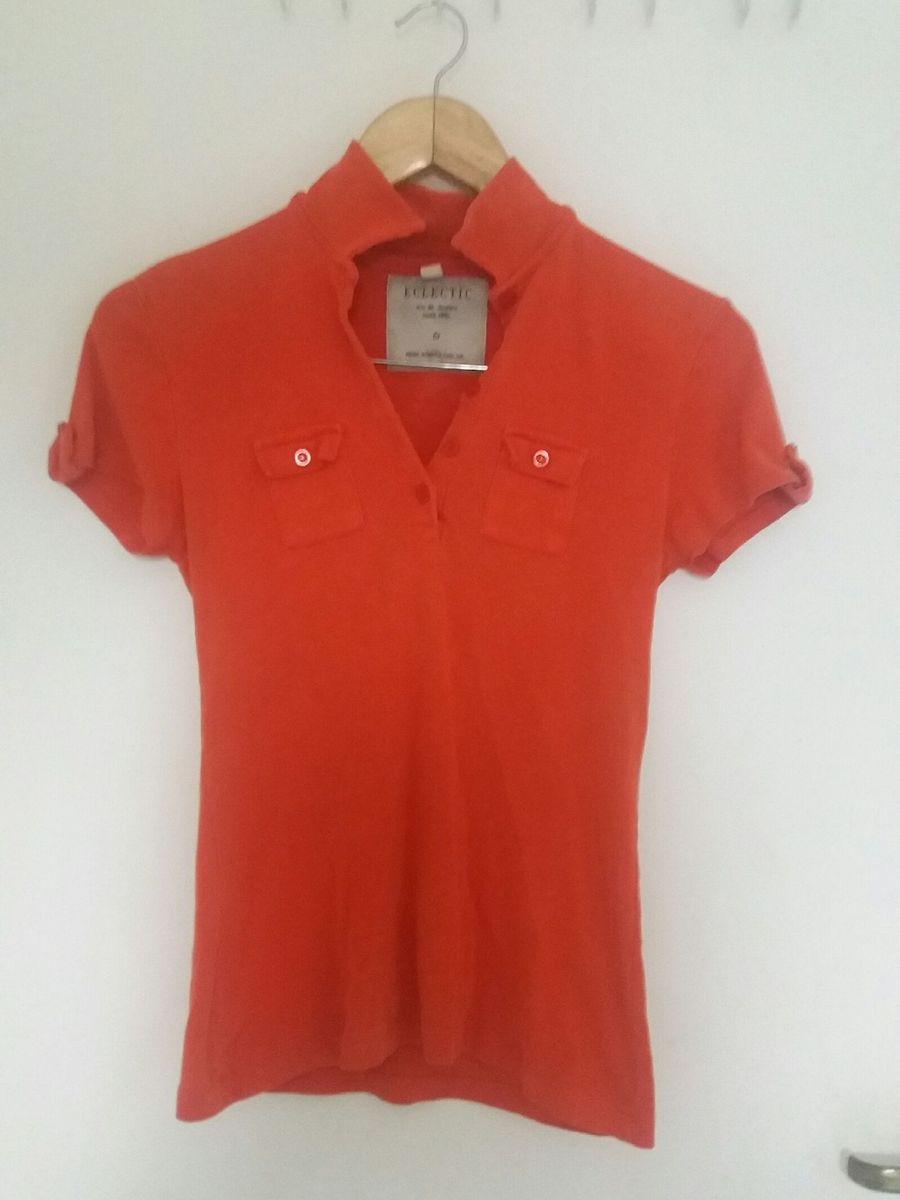 b03d8bad08 camisa acinturada gola polo vermelha - blusas eclectic