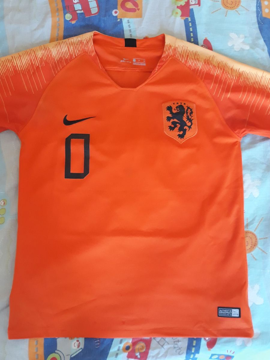 oveja Contribuir Dejar abajo  Camisa Holanda Home 2018 | Camisa Masculina Nike Usado 39288561 | enjoei