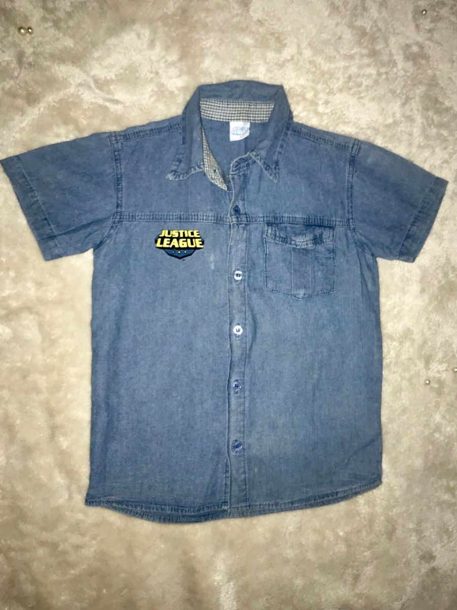 camisa infantil da liga da justiça - menino marisa