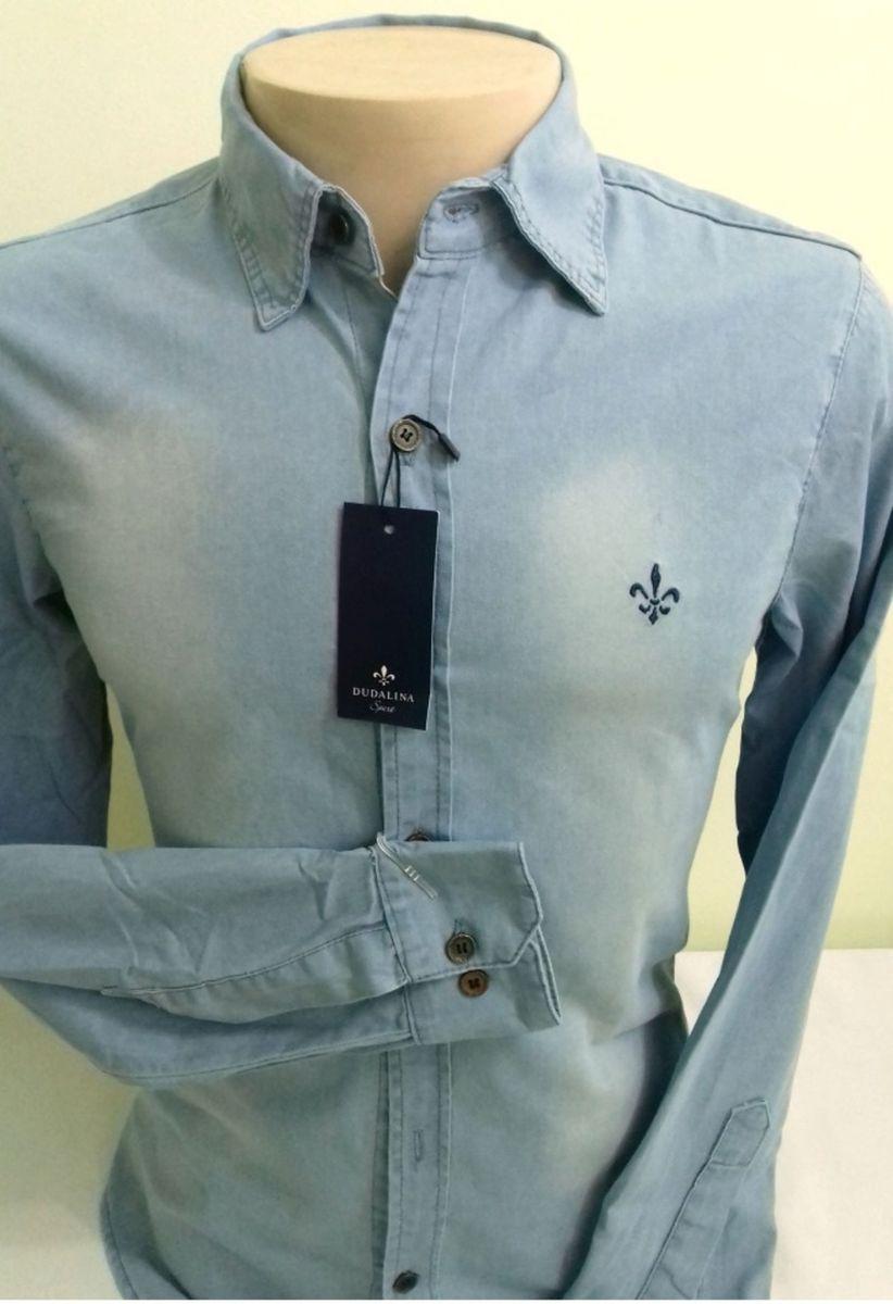 fc2e1dd43fbcb camisa jeans dudalina estonada clara p - camisas dudalina