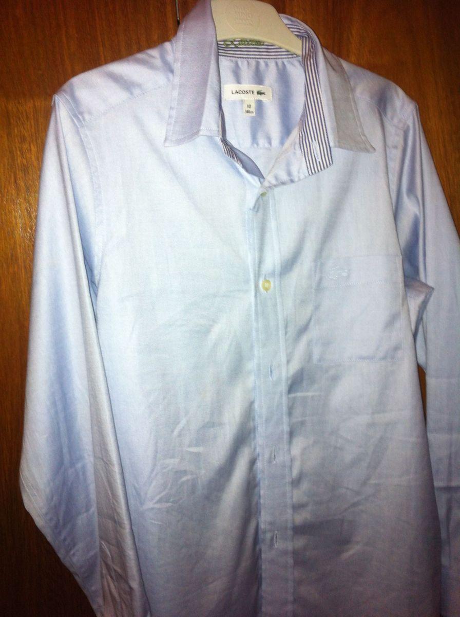 Camisa Lacoste Azul Claro Manga Longa   Roupa Infantil para Menino ... 9bffee63bc
