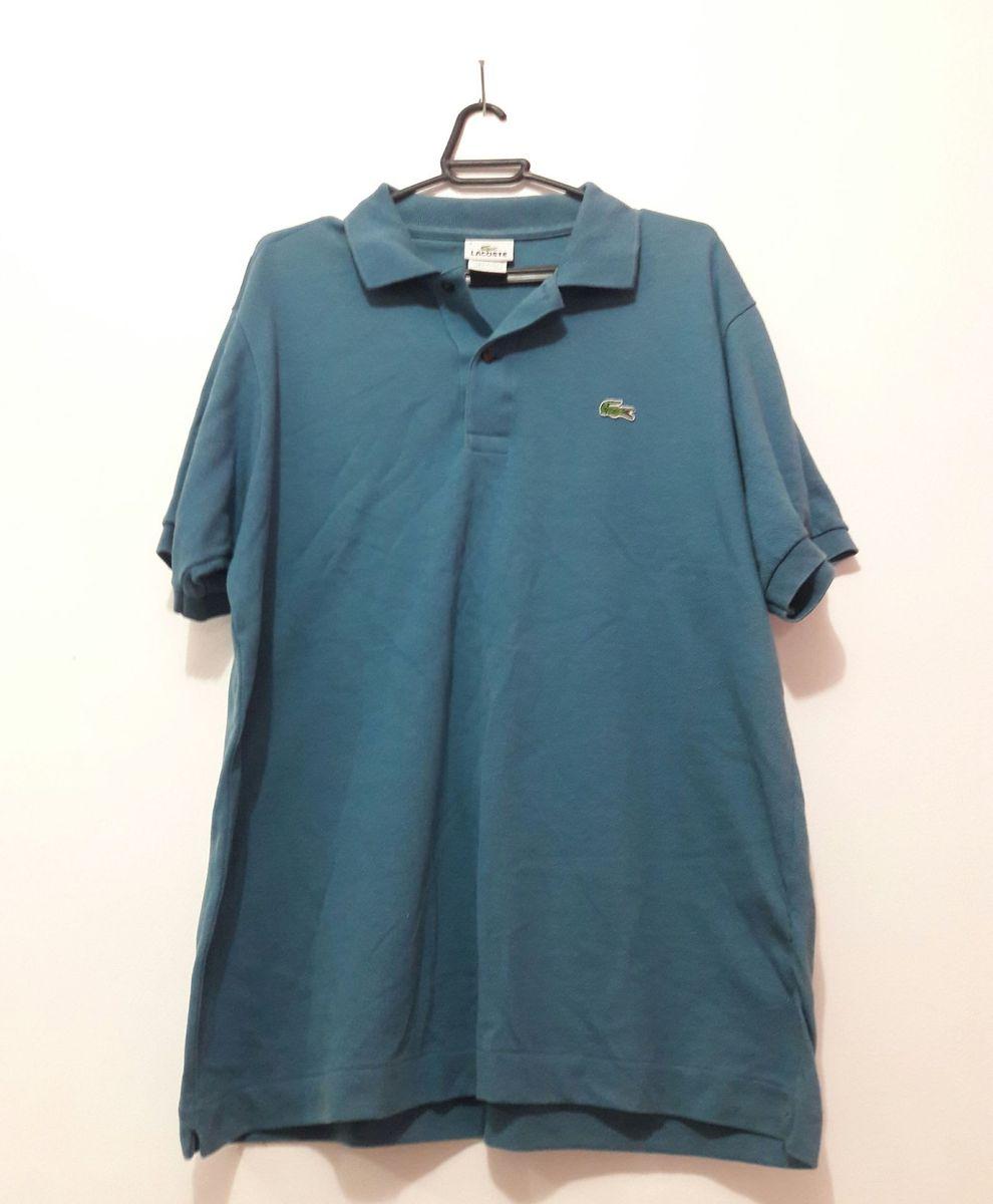 058ed6d2a5 camisa lacoste azul com gola polo - camisas lacoste
