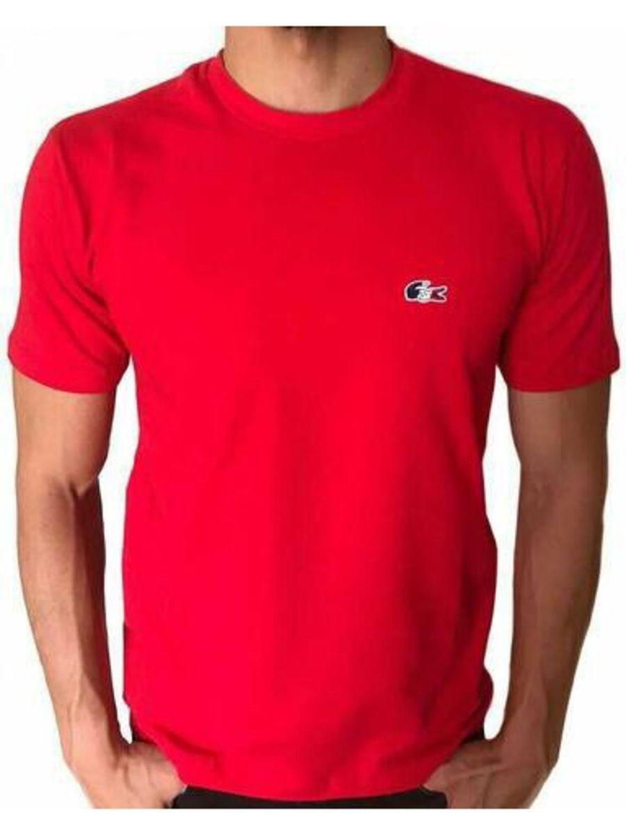 bfe7bf07a3f camisa lacoste básica vermelha original - camisas lacoste