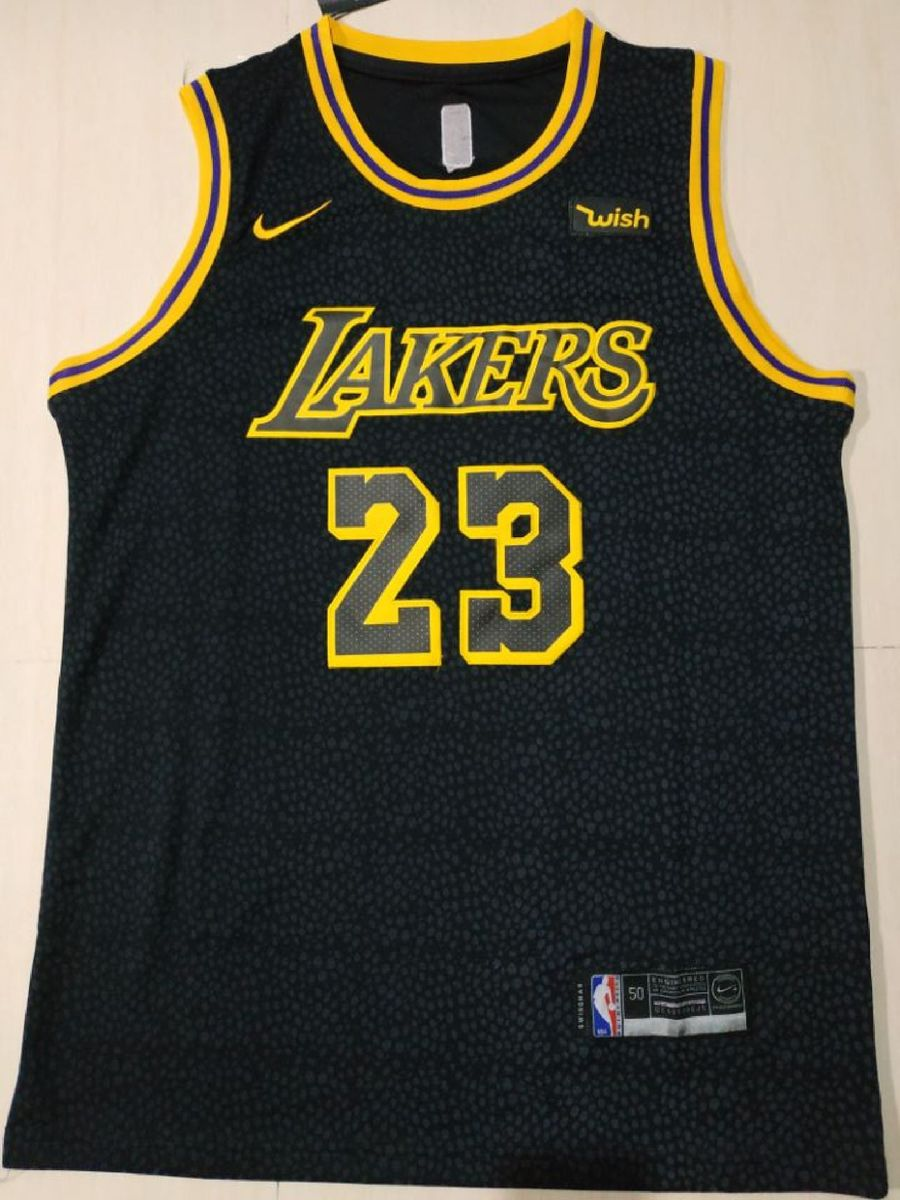 Camisa Lebron James Los Angeles Lakers Black Mamba Tamanhos M 16e9b85facbf8