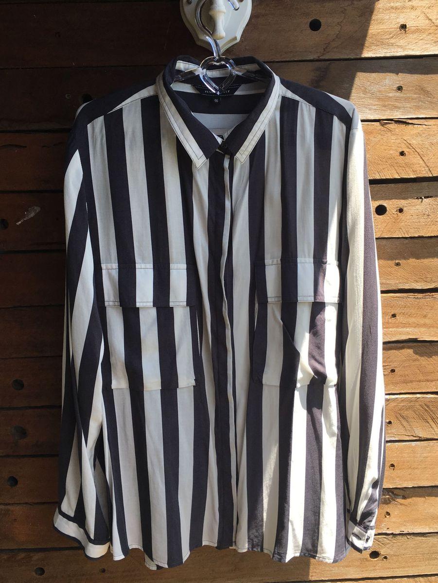 0eab70de5e camisa listrada preta e branca - camisas sem marca