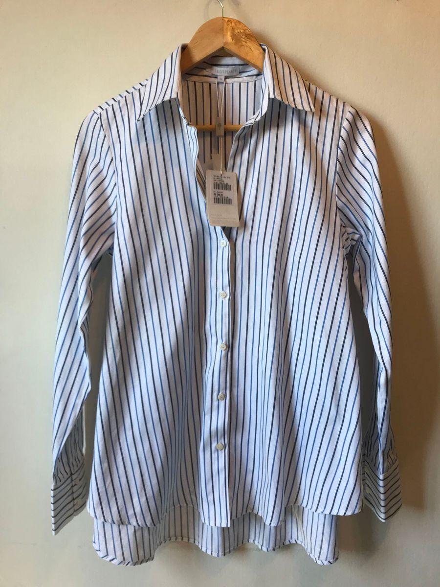 0d3663ecf camisa listras lelis blanc - camisas le lis blanc