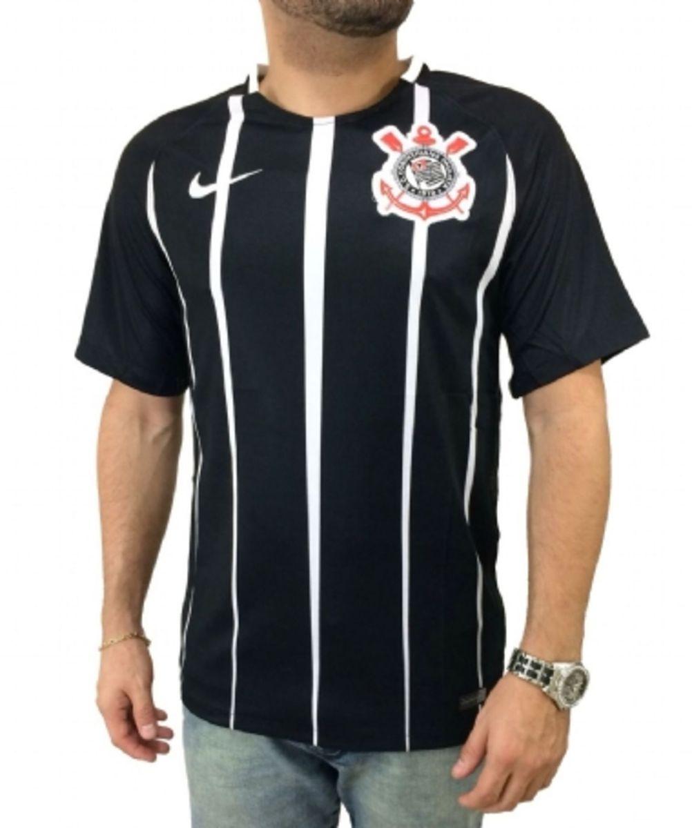 Camisa M Corinthians I 17 18 S nº Torcedor Nike Masculina - Preto e ... c47d9efdec424